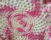 Fil rose au Crochet napperon