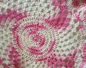 Pink Thread Crochet Doily