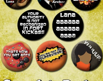 Set of Archer Buttons