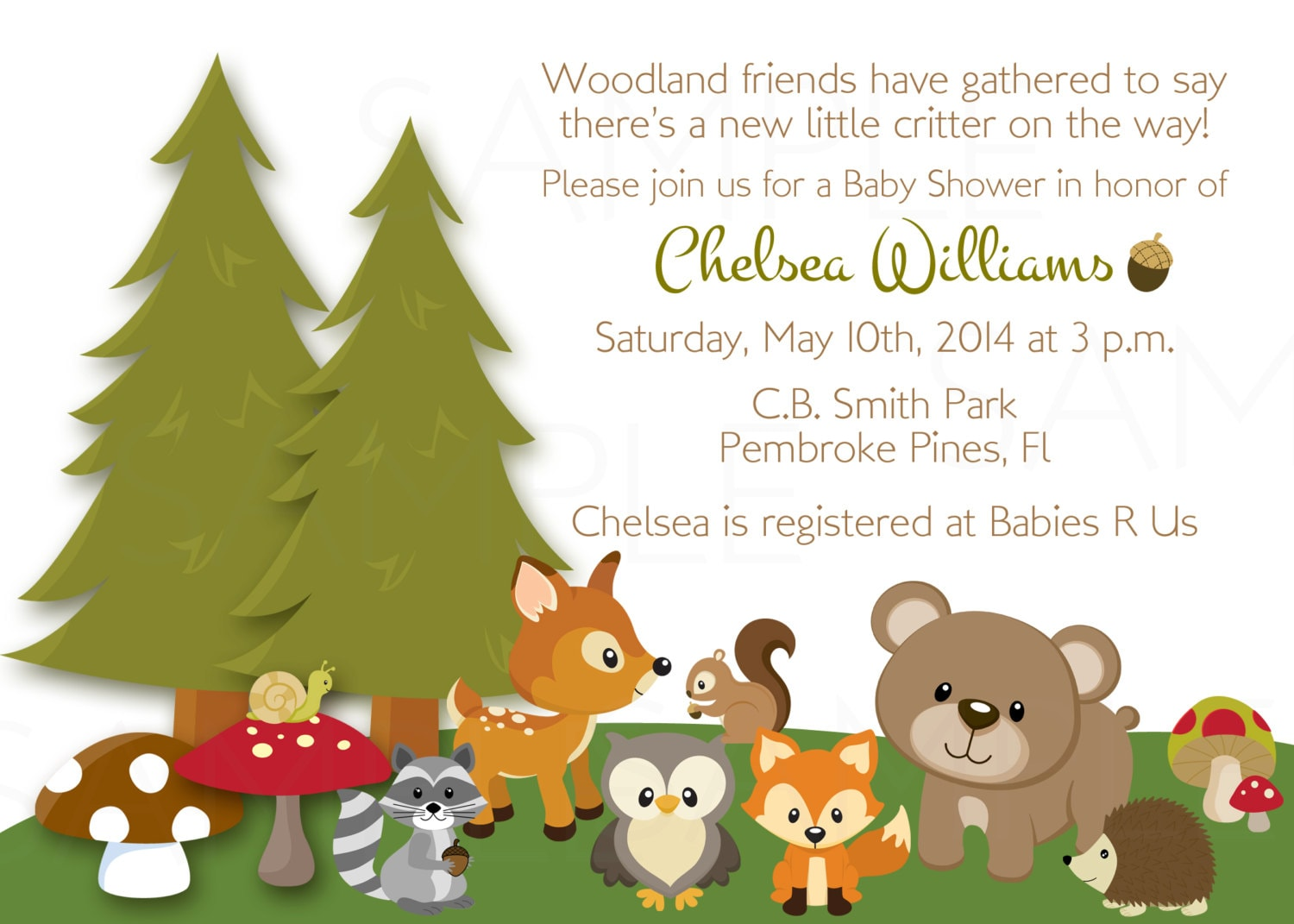 Woodland Friends Forest Animals Theme Baby By
