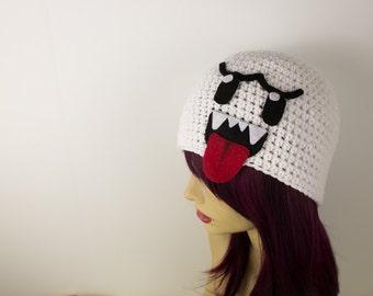 Crochet Mario Inspired Boo Hat