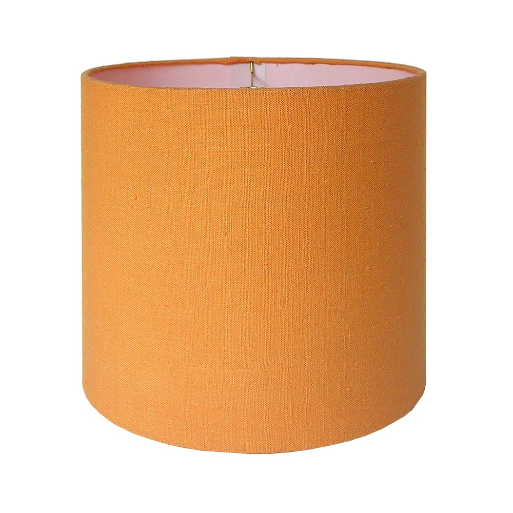 sale drum lamp shade lampshade orange textured fabric ready. Black Bedroom Furniture Sets. Home Design Ideas