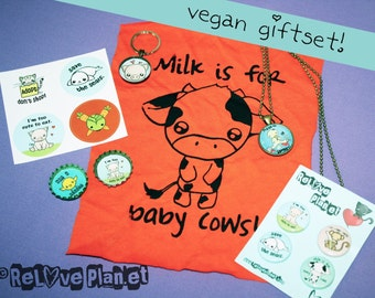 Vegan GIFTSET - Bundle Kit Pack - cute veg kawaii - ReLove Plan.et