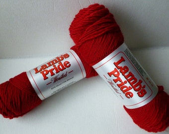 Yarn Sale  - Red Hot Passion Lamb's Pride Worsted by Brown Sheep Company