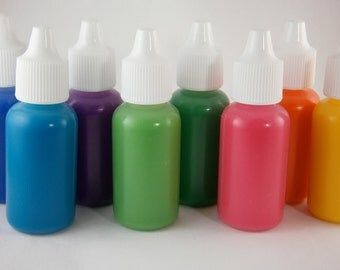 NEON Color Base Concentrate - FDA Certified D&C Color Additives -Highly Pigmented -Stain Free Nail Polish Colorant - 1/2oz Dropper Bottle