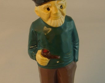 Seaman figurine, sea captain by Nanco, made in Japan. Vintage  ceramic statue.