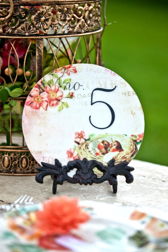 Wood Table Numbers, Wedding Table Number, Circle Table Numbers