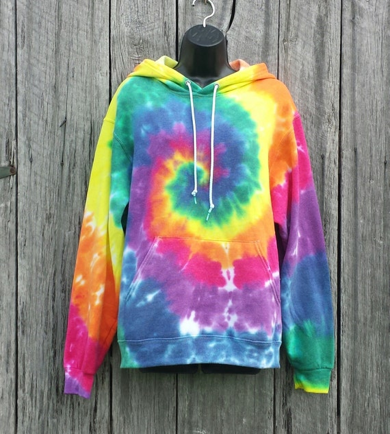 adult rainbow tie dye hoodie available sizes s m l xl 2xl. Black Bedroom Furniture Sets. Home Design Ideas