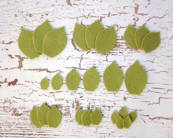 Wool Felt Leaves
