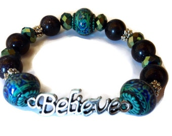 Believe Bracelet, Mood Bracelet, Color Changing, Mood Jewelry, Inspiring Bracelet