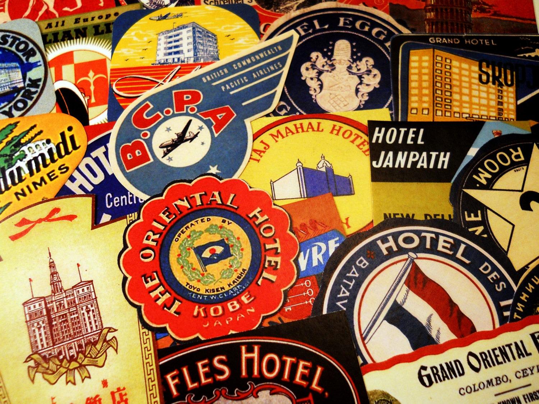 Luggage Labels 24 Reproduction Vintage Travel Labels &