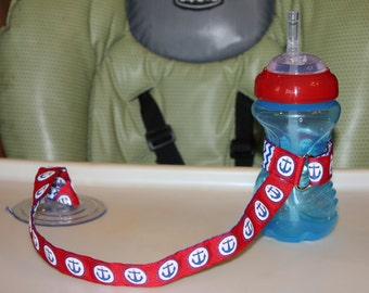 Sippy Cup Leash | Sippy Strap | Sippy Cup Strap Suction Cup | Bottle Tether | Sippy Cup Strap | Suction Sippy Strap | Nautical