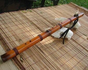 """Bass N.A. Style Flute 5 Holes,one on the back.Key of Low """" B """" This flute is a sample only..you have to place an order to make it."""