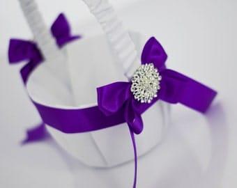 Flower basket girl - purple