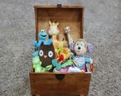 Personalized Kids Toy Chest, Rewards Box, Treasure Trunk, Keepsake Box - Medium Sized - storage and organization
