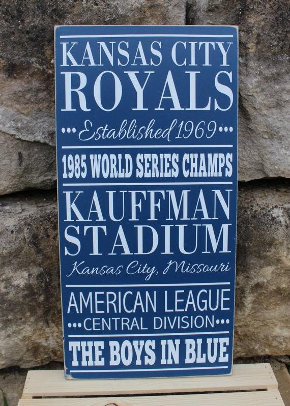 Man Cave Kansas City : Kansas city royals baseball subway style wood by