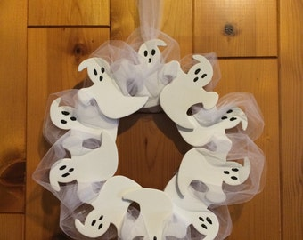 SALE!!! Ghost Wreath - Halloween Wreath with Options