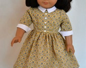 American Girl 18 Inch Doll Dress Historical 1950's era Molly Emily Kit Ruthie - Yellow and Black