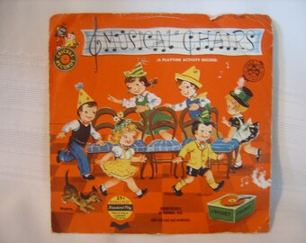 Musical Chairs Cricket Records 45 rpm vinyl - play time activity