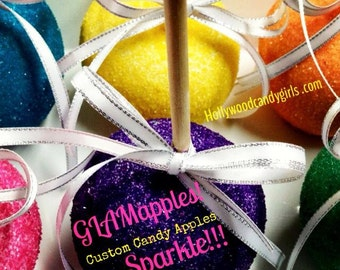 Custom Candy, Caramel or Chocolate Apples Personalized Party Favors GLAMapples! Carnivals & Concessions