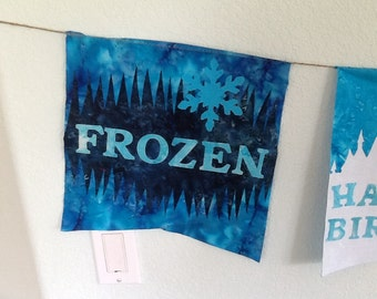 Frozen themed birthday banner