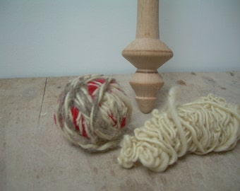 Spindle spinning beechwood hand made / SPINDLE