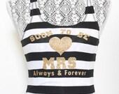 MRS Tank Top - Soon to Be MRS tank top. MRS shirt. Mrs racerback tank top. Just married tank top. Newlywed Tank Shirt. Bride Apparel. I do