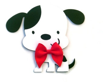 Dalmatian Card, Dog Card, Dog Shaped Card, Puppy Card, Animal Card, Kids Cards, Dog with Bow, Handmade Card, Greeting Card, Birthday Card