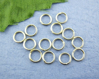 300 Pieces Silver Tone Open Jump Rings 5mm dia., 22 gauge