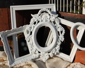 Shabby Chic Frames  - Vintage Picture Frames - Set Of 5 Ornate Open Frames