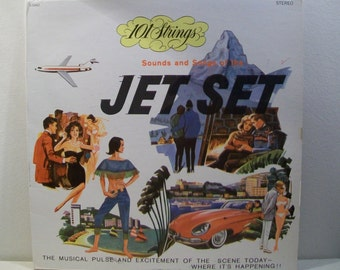 Jet Set Mid Century Vintage Vinyl Record LP Great Art from the Mad Men Era of Travel