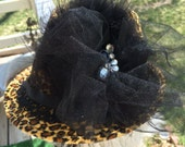 On Sale Fedora Hat Leopard Print Hat Embellished Hat Decorated Wall Decor