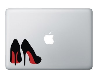 Red Bottom High Heels Vinyl Decal for Electronics (Laptop/Mac), Car Window, Wall, or almost anything.