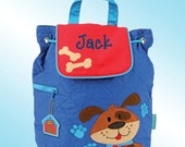 Quilted Backpack - Personalized and Embroidered - DOG