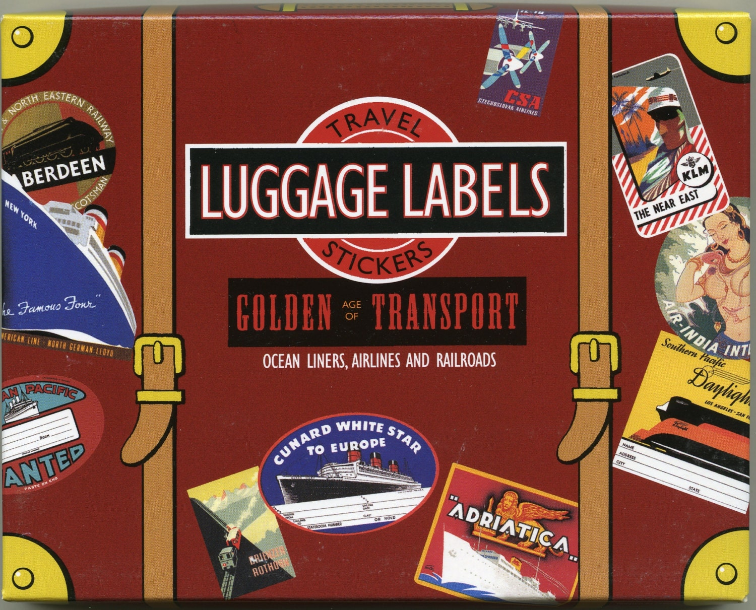 LUGGAGE LABELS, Luggage Stickers, Vintage Travel Stickers ...