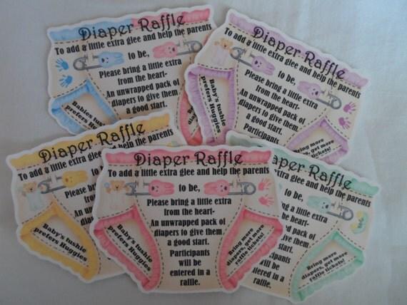 Unique Baby Shower Party Favor Invitation Diaper Raffle Tickets, Baby Shower raffle ticket, diaper raffle tickets, diaper fund, raffle cards