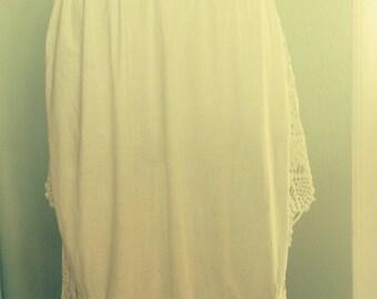 Victorian apron handmade lace