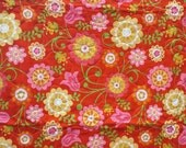 ON SALE: Hello Sunshine by Riley Blake and Lori Whitlock - Bright Red and Yellow Flowers - Crib, Toddler, Lap or Play Mat - Ready to Ship