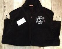 Monogrammed Fleece Unisex Vest for Men and Women- Perfect for Christmas