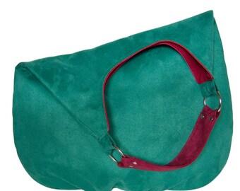 emerald PLUS - shoulder hobo bag, intensely colored tote bag