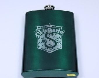 Harry Potter Slytherin House Crest 8 oz Flask