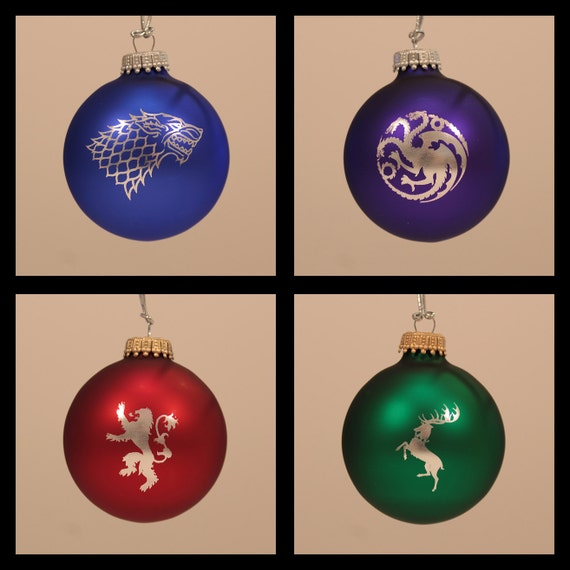game of thrones laser engraved christmas ornaments set of 4