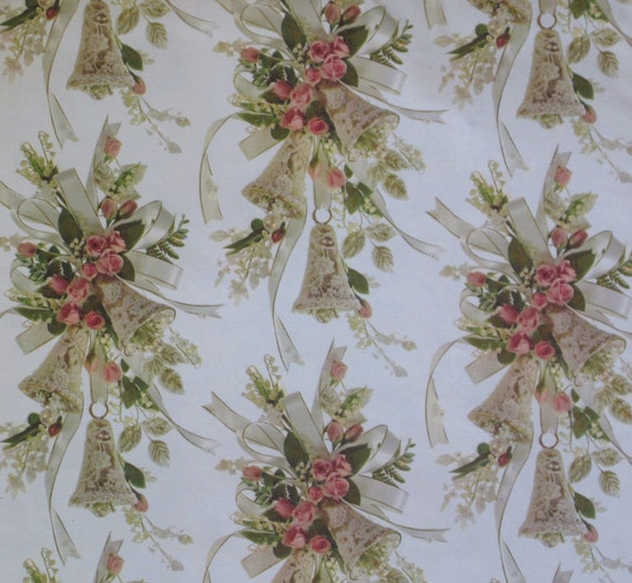 Wedding Gift Paper: Vintage Hallmark WEDDING Gift Wrap Wrapping By
