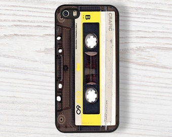 Yellow Vintage Cassette iPhone 6s Case, Iphone 5S Cases, Iphone 4/4S Case, Iphone 5c Case, iPhone 7 case