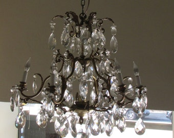 7 light early 20th century chandelier .