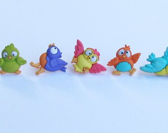 Bird  Push Pins or Magnets