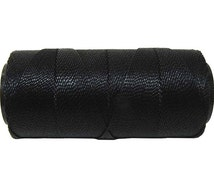 Waxed Polyester Cord - 1 Spool - Jewelry Cord - Macrame Cord 0.8mm - Black