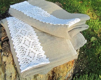 2 tea towels linen