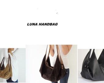 Laroll DeLuna handbag - Soft leather shoulder bag - Woman leather bag