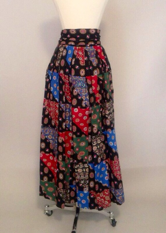 1960s cullinane maxi skirt by ravenouscreatures on etsy